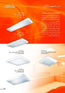 چراغ های فلور سنتی با صفحه پرزماتیک روکار مدل شمیم
